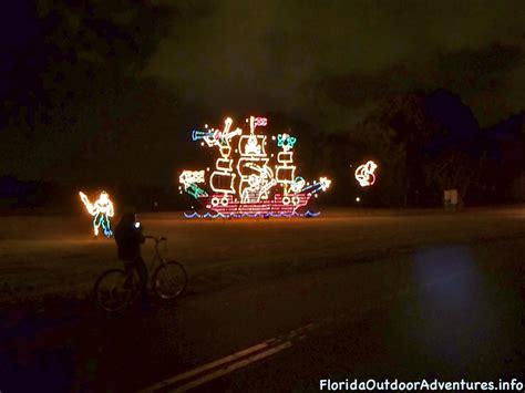 night bike ride through the holiday fantasy of lights