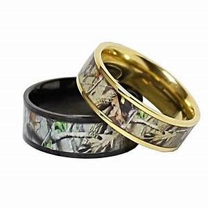 camo wedding ring set for him and her titanium by With camo wedding ring for him