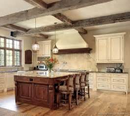 antique kitchen ideas kitchen of the week an antique white kitchen with rustic beams and a cherry island rustic