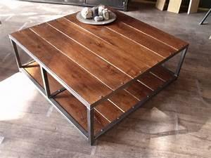 Table Basse Pas Cher : table basse en bois pas cher ~ Teatrodelosmanantiales.com Idées de Décoration