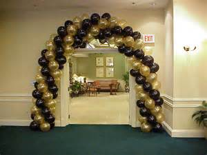 Black And Gold 50th Birthday Decorations by Balloon Arch Gold And Black Balloons Over Ft Myers