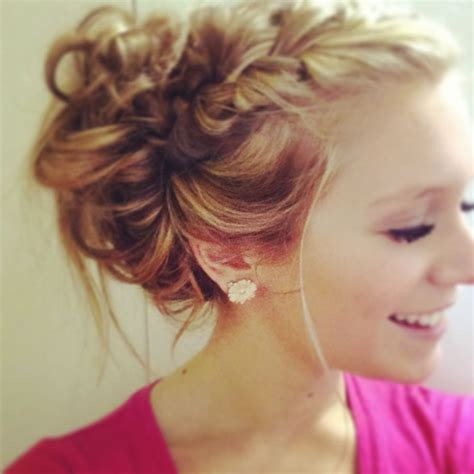 French Braid Into Messy Bun Beauty And Hair Pinterest