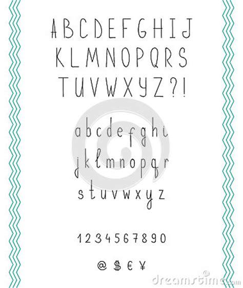 numbers in letters sketch alphabet handwritten font stock vector 49848