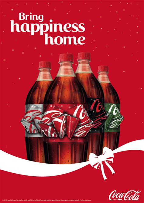 coca colas ingenious holiday bottle   label  pull
