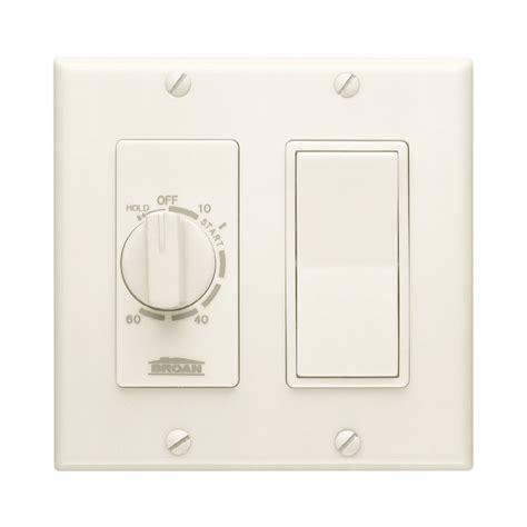 light switch timer lowes shop broan 20 amp ivory double pole timer light switch at