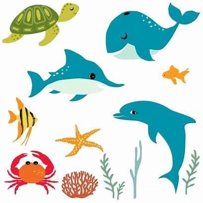 Clipart Fish Sea Illustration Under Cartoon Ocean