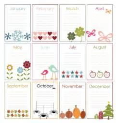 Free Printable Perpetual Birthday Calendar Template