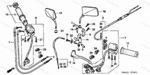 Honda Motorcycle 2007 Oem Parts Diagram For Handle Lever