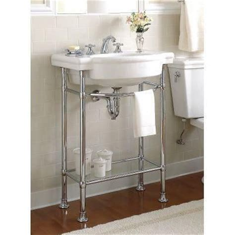 console sink with chrome legs american standard retrospect console table legs in