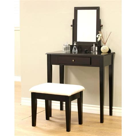 home depot makeup vanity frenchi home furnishing 3 expresso vanity set mh203
