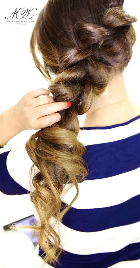 2 minute fancy pony braid hairstyle easy hair tutorial