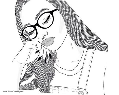 girly coloring pages sleepy girl  printable coloring