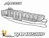Ship Maersk Printables Tankship Coloring Cargo Ships Tanker Printable Boats Carrier Mega Yescoloring Tankers Seas Deep sketch template