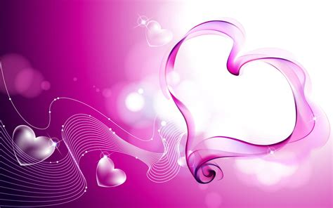 Pink Love Hearts Smoke Wallpapers