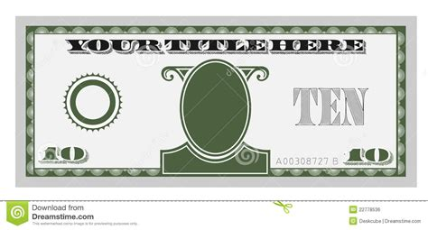 money template ten money bill stock vector illustration of green 22778536