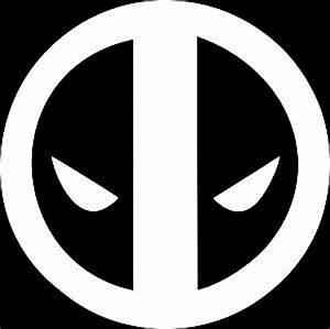 Amazon.com: Deadpool Face WHITE Vinyl Car/Laptop/Window ...