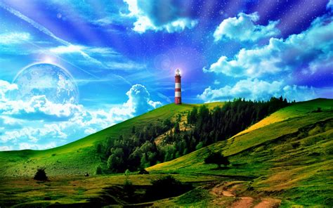 Light House On The Hill Wallpapers  Light House On The