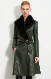 Long Leather Coat Woman