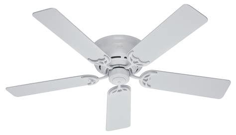low profile white ceiling fan hunter 52 quot low profile iii ceiling fan 20803 in white