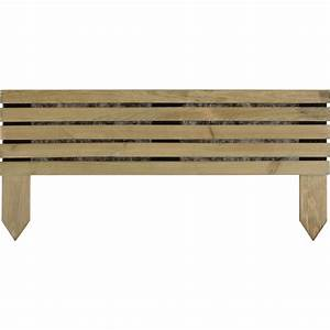 Bordure Bois Pas Cher : bordure planter en bois vert naturel x cm ~ Dailycaller-alerts.com Idées de Décoration