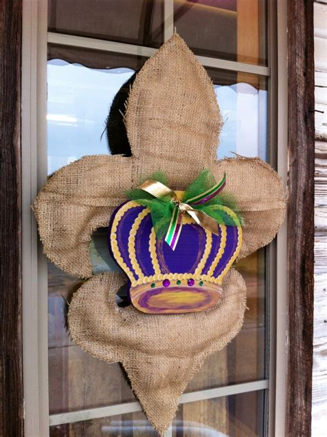 burlap mardi gras door decorations 14 best images about mardi gras crafts and ideas on