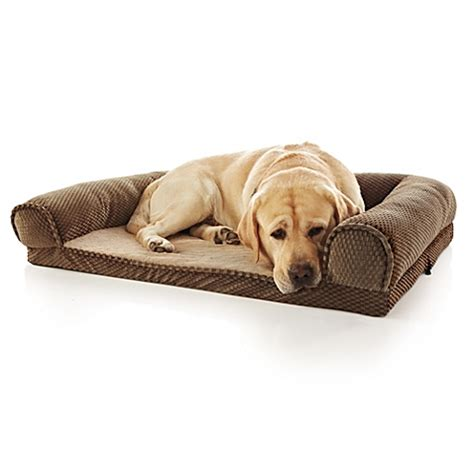buy pawslife orthopedic bolster pet bed in brown from bed