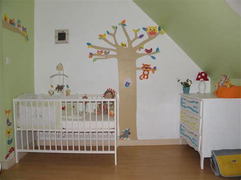 mur chambre bébé decoration chambre bebe murs accueil design et mobilier