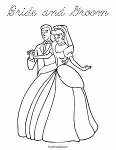 Bride And Groom Free Colouring Pages