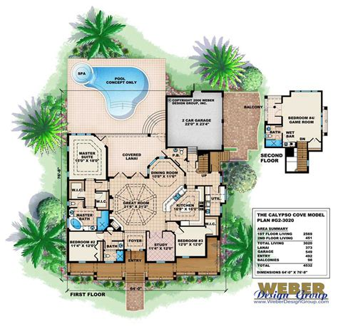 4 bedroom 3 5 bath house plans florida style house plan 4 bedrms 3 5 baths 3020 sq