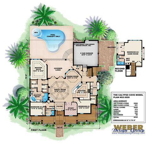 mediterranean home floor plans florida style house plan 4 bedrms 3 5 baths 3020 sq