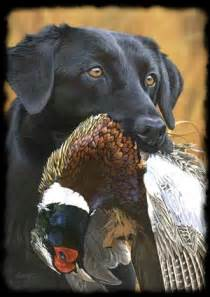 Black Lab with Duck Painting