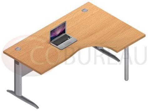 bureau en l bureau plateau compact 180 cm pro métal pieds en l