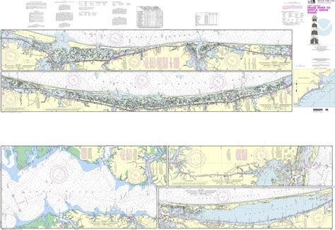 noaa chart  intracoastal waterway neuse river  myrtle grove sound