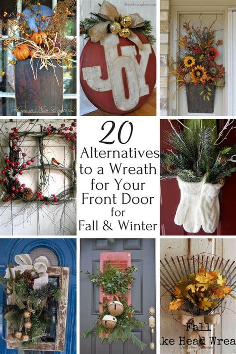 creative alternatives   front door wreath  fall