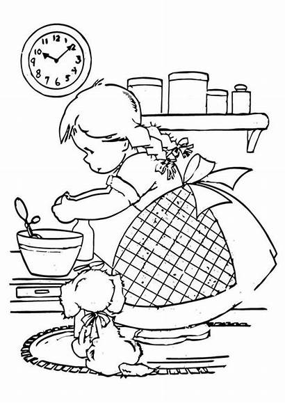 Coloring Cooking Pages Printable