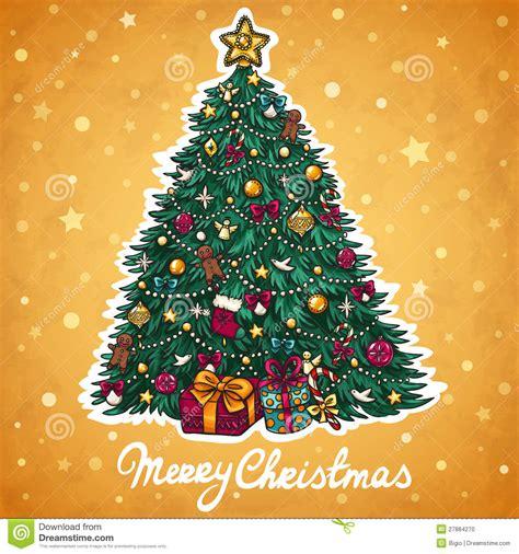 christmas tree greeting card stock photo image 27884270