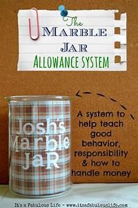Allowance Chore Chart The Marble Jar Allowance System Behavior And