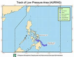 Tropical Depression Auring Weakens Into Low Pressure Area