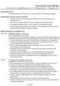 Resume Senior Executive Financial Services Technology