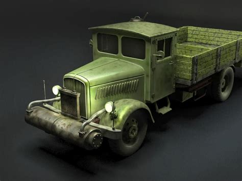 opel blitz opel blitz holzgas truck free 3d model max obj 3ds mtl