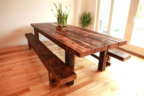 wooden bench for kitchen table metal patio table reclaimed wood dining table diy