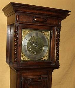 Antique, 8, Day, Miniature, Grandfather, Grandmother, Clock, For, Sale