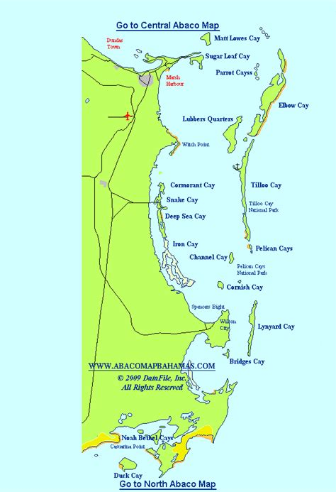 central abaco map bahamas elbow cay hope town harbour