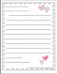best photos of heart lined paper free printable With letter writing paper for kids