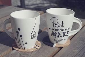 Tassen Bemalen Stifte : die besten 25 bemalte tassen ideen auf pinterest kaffeetassen sharpie bemalte kaffeetassen ~ Yasmunasinghe.com Haus und Dekorationen