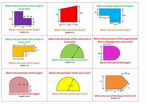 Compound Area And Perimeter Involving Algebra By Denningh