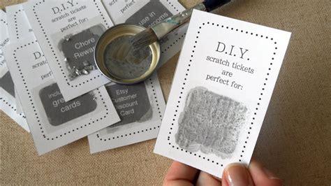 diy scratch card easy tutorial youtube