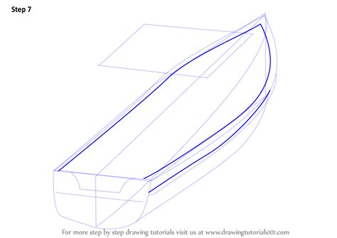 How To Draw A Water Boat by Learn How To Draw Boat In Water Boats And Ships Step By