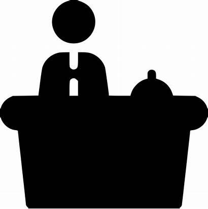 Receptionist Reception Clipart Icon Restaurant Government Employee
