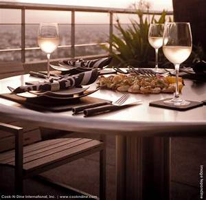 Teppan Yaki Grill : teppanyaki grill table on wheels electric fire pit casual table height adjustable ~ Buech-reservation.com Haus und Dekorationen